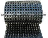 土工作業プラスチック流出シートの窪みの排水のボード