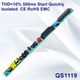 Thd<10%の500ms開始セリウムRoHS EMC QS1119が付いているすぐに隔離されたLEDランプの電源
