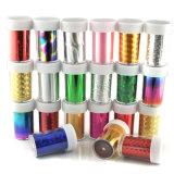 Nouveaux morceaux de verre brisés Mirror Foil Tips Stencil Decal Nail Art Sticker Cute Tools
