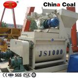 Js1000 Tweeling het Mengen zich van de Mixer van de Partij van het Cement van de Schacht Machine