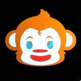 Улыбающееся лицо Monkey стены наклейки (3030 CA-004)
