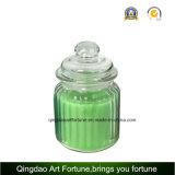 Vela perfumada con vaso de vidrio con tapa de vidrio