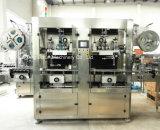 Doppelter Köpfeshrink-Etikettiermaschine für Plastikflaschen