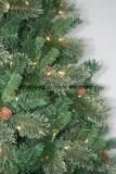 Árbol de navidad artificial de la aguja del PVC con el cono y la cadena ligera del LED (SU092) del pino
