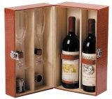 Boîte à vin rouge avec insert en mousse épais