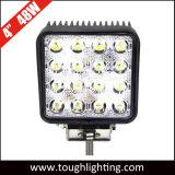"""4.5 de alta intensidad"""" 48W 3200LM Epistar LED cuadrada de las luces de trabajo del tractor"""