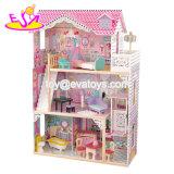 신식 소녀는 실행 가구 16 피스를 가진 소형 나무로 되는 인형의 집 장난감을 W06A220 가장한다