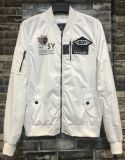2017 Spring Rib Collar White Bomber Jacket