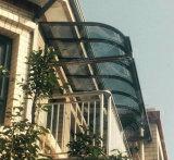 Het Afbaarden van het Polycarbonaat van de Schaduw van de Zon van het aluminium, OpenluchtLuifel