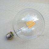 Bulbo do diodo emissor de luz do filamento da lâmpada B22 E27 G95 da luz de bulbo 4W do diodo emissor de luz de Dimmable