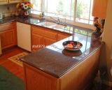 Gabinete de cozinha do competidor com parte superior contrária do granito (001)