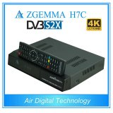 Ci+ Funktions-Doppelkern Multistream 4K UHD Kodi Fernsehapparat-Kasten Zgemma H7c mit DVB-S2X+2*DVB-T2/C dreifachen Tuners