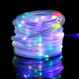 10m 100 voyants LED solaire corde Feux de fée de chaîne de tube étanche extérieur décor Garden Party de Noël lumières