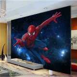 Pinturas murais removíveis decorativas do papel de parede do Spiderman dos desenhos animados para o quarto dos miúdos