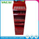 Os produtos cosméticos de piso de segurança de papel de rack de exibição para a exposição mostrar