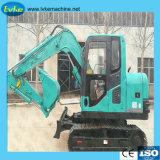 maquinaria de construcción de la fábrica miniexcavadora de Ruedas hidráulicas de 8,5 toneladas/excavadora de cadenas