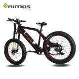 Bici eléctrica verde de la potencia 1000W del más nuevo modelo con la batería ocultada