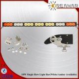 210W de Enige LEIDENE van de Rij 37.9inch Lichte Staaf van de Auto met Amber/Wit/Kleur Combo