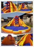 商業使用のための膨脹可能なプールの倍の車線水スライド