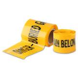 試供品の使用できる白の地下探索可能な警告テープ