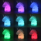 Vinyle Animal Unicorn LED multicolore de Lumière de Nuit