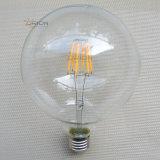 2017의 가장 새로운 디자인 Edison LED 필라멘트 전구, LED G125 4W 6W 8W Dimmable LED 전구
