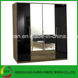 Cabinet de chambre à coucher de garde-robe de mélamine et garde-robe en bois neufs (garde-robe de prix usine)