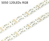 5050 RGB Color 120LED / M LED Strip com UL