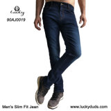 Ajuste fino de estiramento confortável Azul Jeans Skinny Fit Jeans Denim