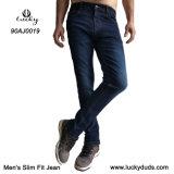 Dimagrire i jeans scarni del denim di misura di stirata Comfy blu adatta dei jeans
