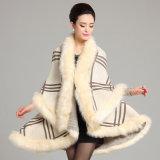 女性の擬似のどの毛皮のポンチョによって編まれるカーディガンのコートの卸売