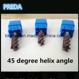 Cabide торцевые фрезы угла винтовой линии 45 градусов для материала Inconel