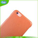 Caixa material de couro do telefone da tampa traseira do plutônio para o iPhone mais