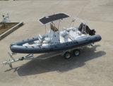 Aqualand 21.5FT 6,5M deportivo barco inflable rígido/bote de rescate/barco de pesca (RIB650B)