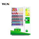 Distributore automatico della bevanda dello schermo di tocco e spuntino a gettoni esterni