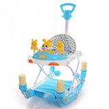 Поездка на пластиковый Rocking Horse Wlaker малыша с 8 Пластиковые колеса и 2 заглушки