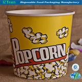 처분 할 수있는 서류상 팝콘 통 식품 용기 종이 그릇