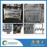 Rectángulo resistente de acero amontonable y plegable del acoplamiento de alambre para el almacenaje del almacén