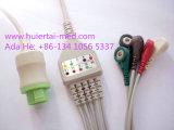 Kontron 12o pino 3&5 CABO DE ECG Clip&Elástico