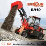 Er10 Everun Новый Mini фронтальный ковшовый погрузчик с помощью пневматического снегоочистителя