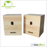 Botella Conatiner del rectángulo de petróleo esencial de madera