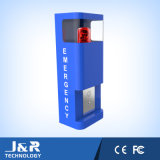 Rectángulo de la llamada de emergencia del IP, teléfono del servicio, puntal del estacionamiento