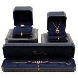 Коробка подушки для браслета & ювелирных изделий & вахты с логосом черной фольги горячим штемпелюя