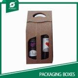 2パックのペーパーパッキングワインボックス(FP6063)