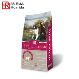 Le conditionnement des aliments pour animaux de compagnie à usage intensif de sac avec plaque de jonction et fermeture à glissière latérale