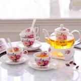 Jantar de cerâmica Definir louça de porcelana de chá de porcelana Cafeteira Definido