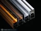 Curtain di alluminio Track Profiles con Brushed Silver Color