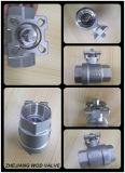 Válvula de esfera 2PCS com almofada de montagem