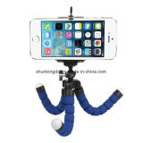 Mini support flexible portatif Monopod de stand de bride de trépied de poulpe d'éponge + support de téléphone pour le support de l'appareil-photo DSLR de Gopro