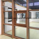 Tipo de Cortina da janela do Escritório da partição de madeira de Teca Parede de vidro